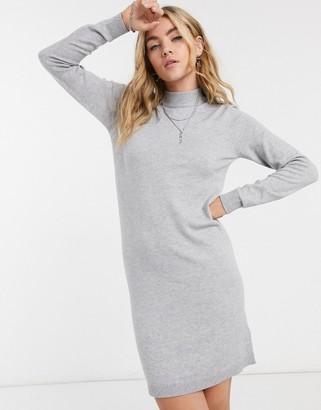 Object Thess knit mini sweater dress in gray