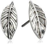 The Sak Leaf Silver Stud Earrings