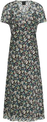 Anna Sui Wrap-effect Printed Crepe De Chine Midi Dress