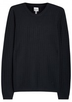 Armani Collezioni Midnight Blue Diamond-knit Jumper