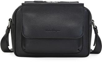 Salvatore Ferragamo Men's Grained Leather Tornabuoni Shoulder Bag
