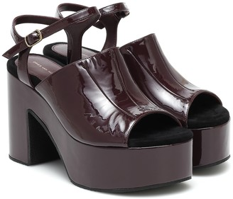 Dries Van Noten Patent-leather platform sandals