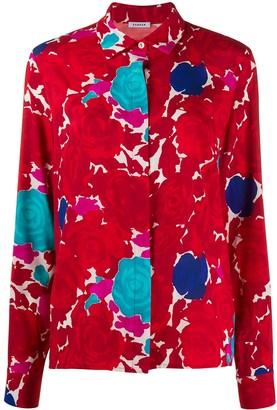 P.A.R.O.S.H. Loose Fit Floral Print Shirt