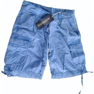 Napapijri Navy Cotton Shorts for Women
