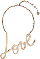 Lanvin Gold 'Love' Necklace