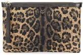 Dolce & Gabbana leopard print lurex pouch