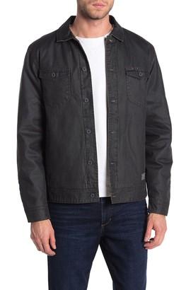 Weatherproof Waxed Cotton Faux Shearling Lined Trucker Jacket