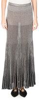 Proenza Schouler Metallic Knit Maxi Skirt, Silver