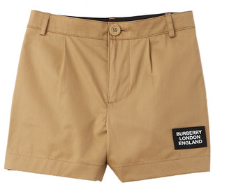 Burberry Logo Applique Twill Tailored Short