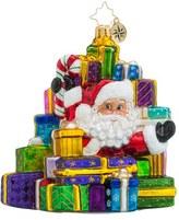 Christopher Radko 'Lots To Deliver' Santa Ornament
