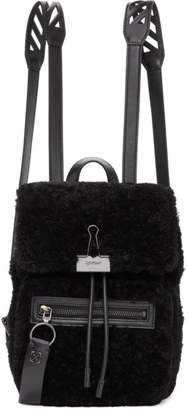 Off-White Off White Black Sherpa Monotone Backpack