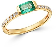 Bloomingdale's Emerald & Diamond Ring in 14K Yellow Gold - 100% Exclusive
