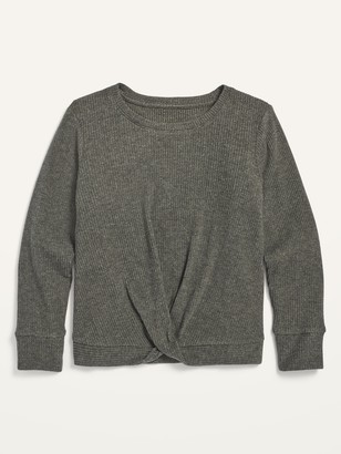 Old Navy Cozy Twist-Front Rib-Knit Top for Girls