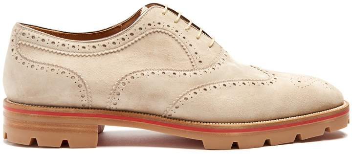 Christian Louboutin Charlie suede oxford shoes