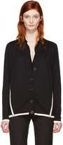 Lanvin Black Wool Contrast Cardigan