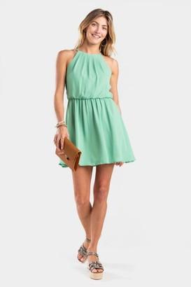 francesca's Kasey Solid Flawless Dress - Mint