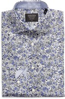 Thumbnail for your product : Nordstrom Trim Fit Floral Non-Iron Dress Shirt