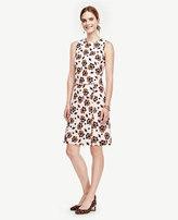 Ann Taylor Floral Jacquard Sleeveless Dress