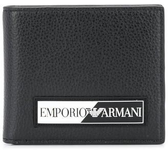 Emporio Armani Logo Plaque Foldover Wallet