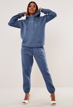 Missguided Navy Basic Hoodie