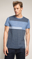 Esprit OUTLET marbled stripe colour block t-shirt