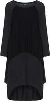 Mat Plus Size Mesh insert fine knit dress