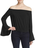 Bardot Elson Off-The-Shoulder Ruffle Sleeve Top