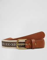 Asos Woven Belt With Jacquard