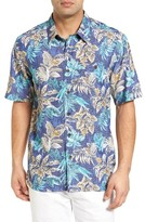 Quiksilver Men's Waterman Collection Daily Routines Camp Shirt