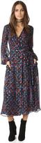 Cynthia Rowley Folky Floral Open Back Wrap Dress
