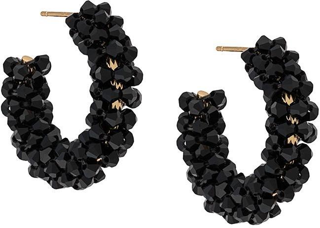 Simone Rocha Beaded Hoop Earrings