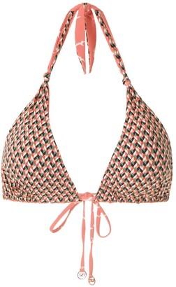 Track & Field Zig Zag bikini top