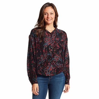 Nine West Women's Cleo New-Age Button Up Front Shirt