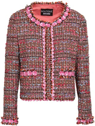 Boutique Moschino Appliqued Boucle-tweed Jacket