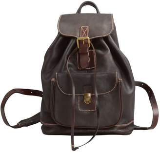Touri Handmade Genuine Leather Backpack In Chocolate Brown
