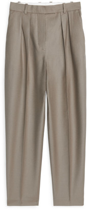Arket Wool Flannel Trousers