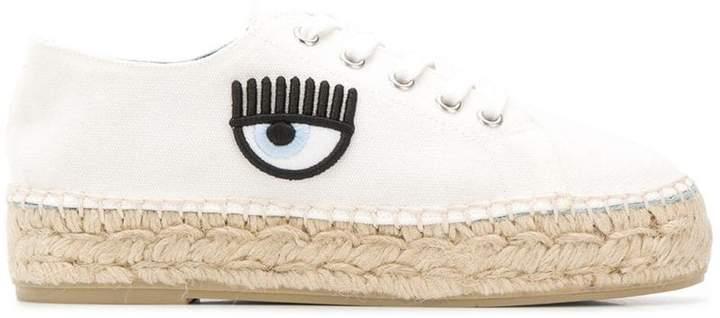 Chiara Ferragni eye detailed espadrille sneakers
