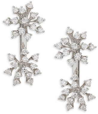 Hueb Diamond & 18K White Gold Stud Earrings