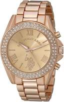 U.S. Polo Assn. Women's USC40037 -Tone Watch with Crystals