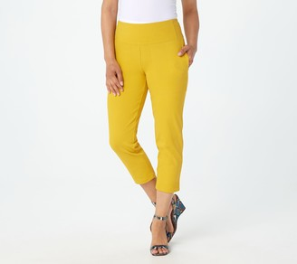 Women With Control Wicked by Petite Prime Stretch Denim Crop Pants