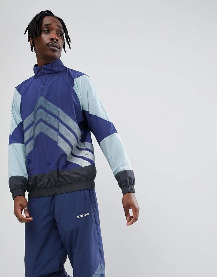adidas Nova Half-Zip Track Jacket In Blue Ce4817