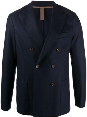 Eleventy Double Breasted Long Sleeve Blazer