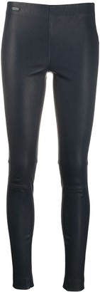 Polo Ralph Lauren Mid Rise Leather Leggings