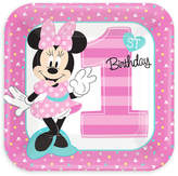 Disney Minnie Mouse 1st Birthday Lunch Plates