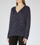 Reiss Fontaine - Metallic Jumper in Blue, Womens