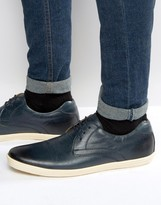 Base London Concert Leather Derby Shoes