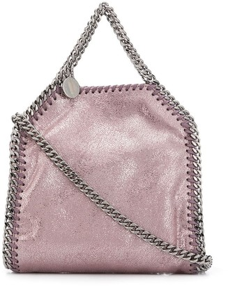 Stella McCartney tiny Falabella metallic tote