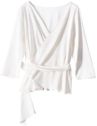 Voya Mira Wrap Linen Shirt