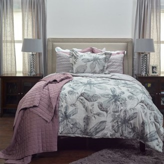 Rizzy Home Lark Queen Size Comforter Set in Ivory Color