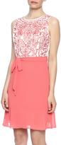 Ya Coral Embroidered Dress